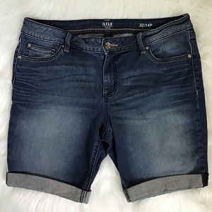 A.N.A. Embroidered Denim Jean Shorts Size 14